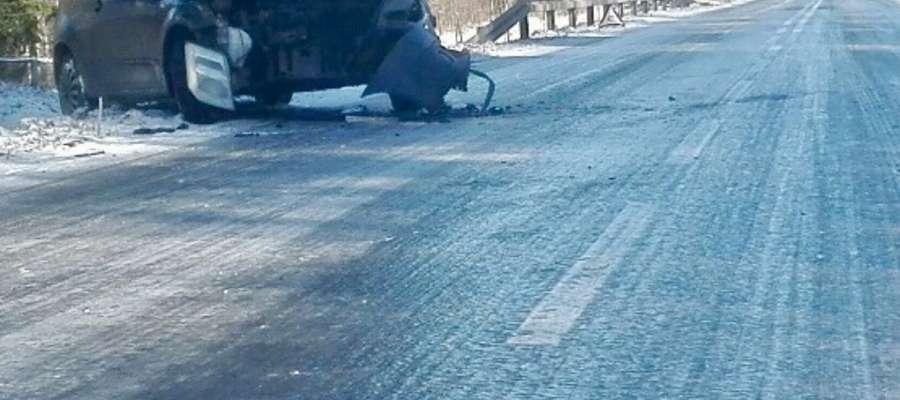 Kolizja drogowa w Runowie