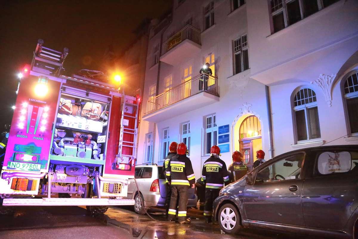 Pożar mieszkania Warmińska