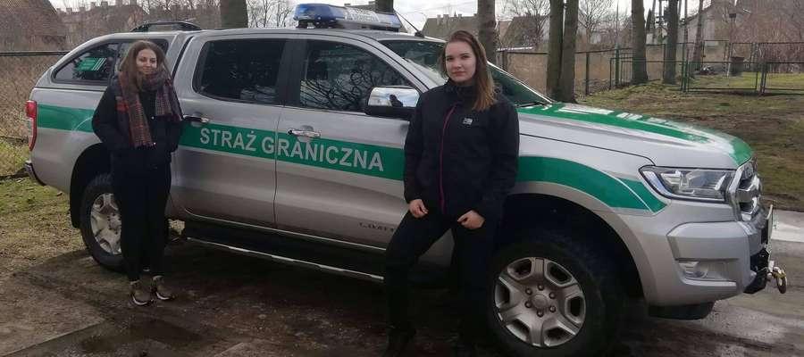 Młodzież poznała sprzęt i charakter pracy strażników granicznych