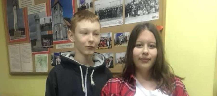 Zuzia Fąk i Szymon Kraśniewski