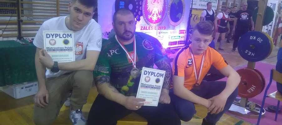Od lewej: Sebastian Łoch, Marek Makarewicz i Kacper Hercer