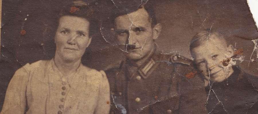 Marta i Franz Milewscy z adoptowanym Dieterem - Edmundem