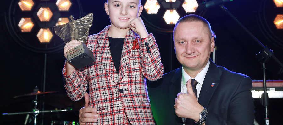 Andrzej Abako, starosta Olsztyna, i Marsel Castalano