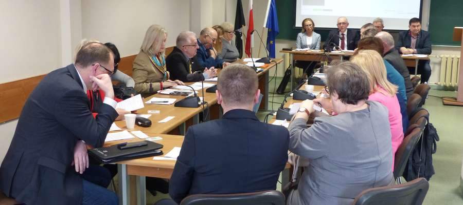 Rada Miasta Bartoszyce podczas obrad