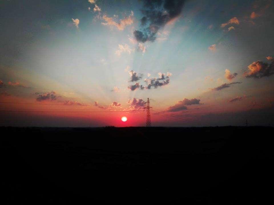 Zachód słońca w Śmiardowie. - full image