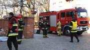 Trwają ćwiczenia strażaków w lidzbarskim kościele