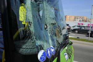 Autobus komunikacji miejskiej potrącił rowerzystę