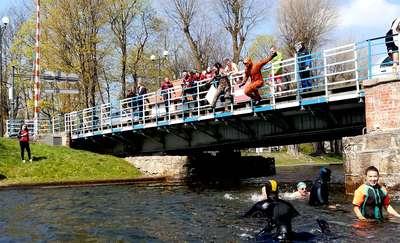 Śmigus Dyngus na Kanale Łuczańskim