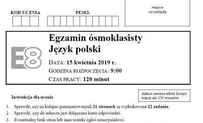 Awaria systemu informatycznego podczas egzaminów ósmoklasisty