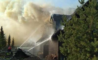 Pożar domu w Rydzewie