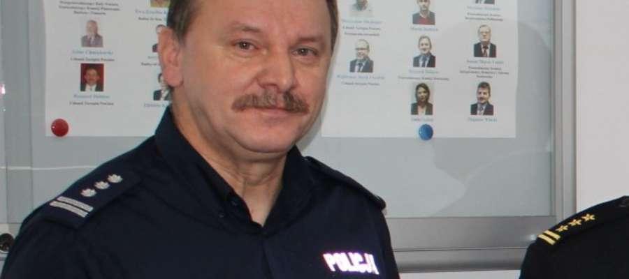 Komendant policji w Żurominie insp. Witold Lemański podkreśla, że w powiecie jest  bezpiecznie