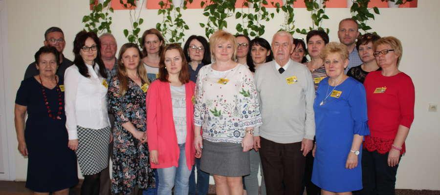 Zarząd Oddziału powiatowego ZNP w Żurominie po poniedziałkowym spotkaniu