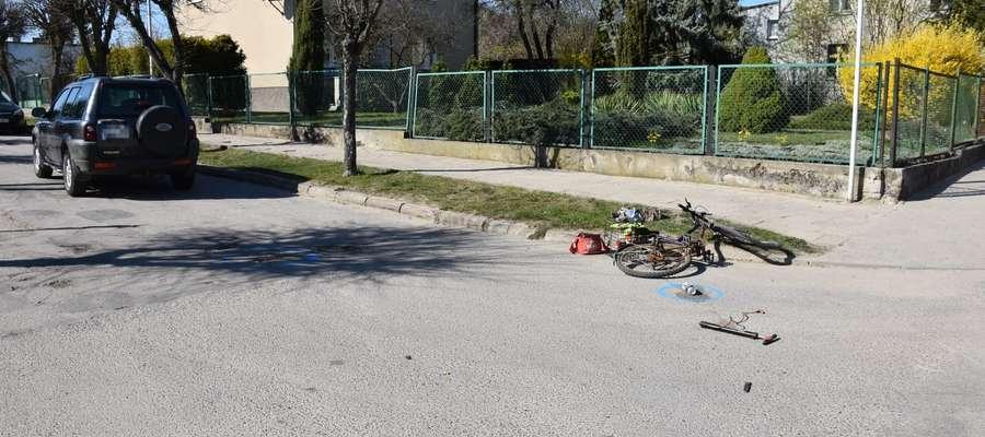Potracony rowerzysta zmarł w szpitalu