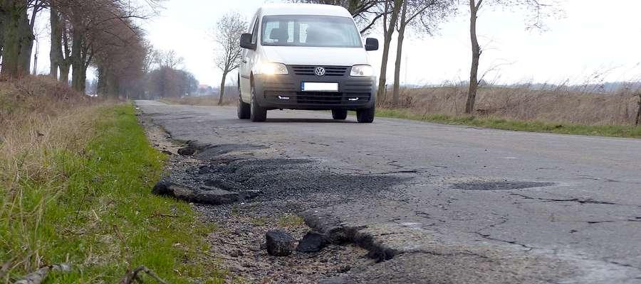O remont drogi Lubawa - Mortęgi mieszkańcy dopominali się od wielu lat