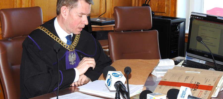Sędzia Karol Bucha z Sądu Rejonowego w Nowym Mieście Lubawskim