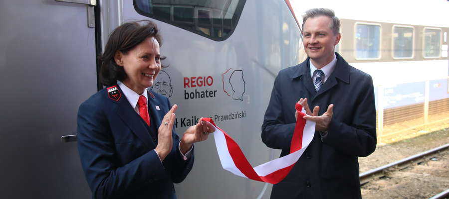 Pociąg POLREGIO otrzymał imię Michała Kajki