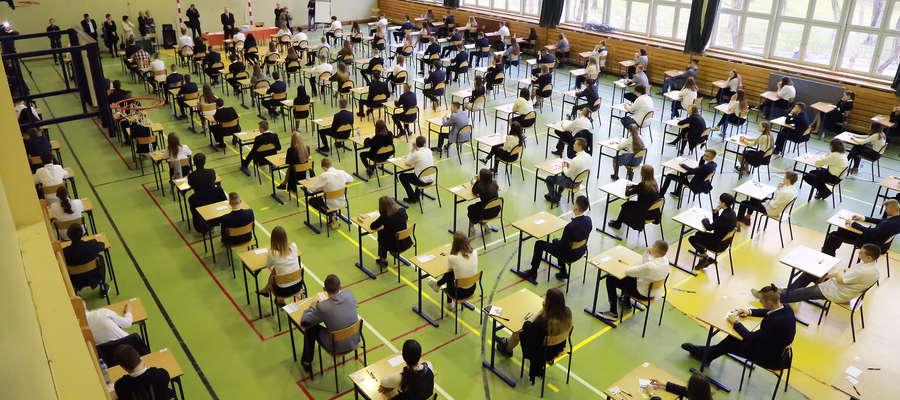 Egzamin gimnazjalny w SP 5 w Olsztynie