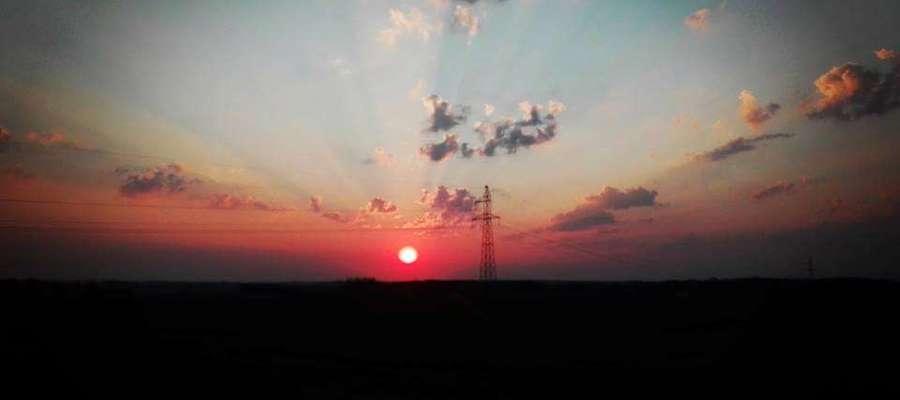 Zachód słońca w Śmiardowie.