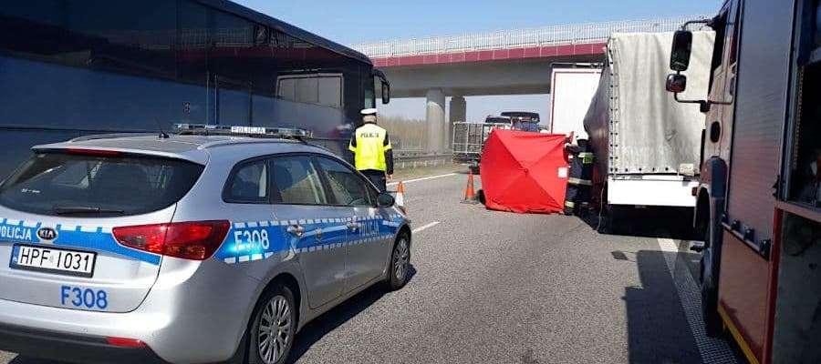Do tragicznego wypadku, w którym zginął mieszkaniec Grabowa, doszło na autostradzie A2