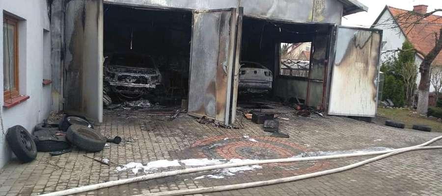Zniszczeniu uległ pawilon warsztatowy