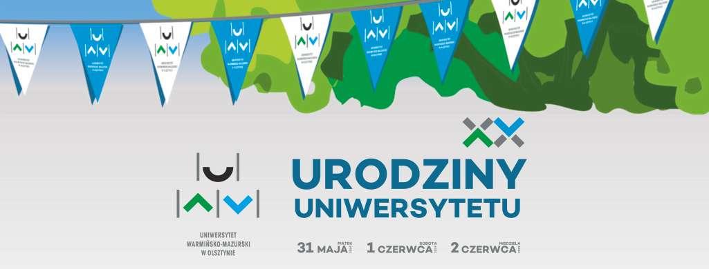 XX lat Uniwersytetu Warmińsko-Mazurskiego - full image