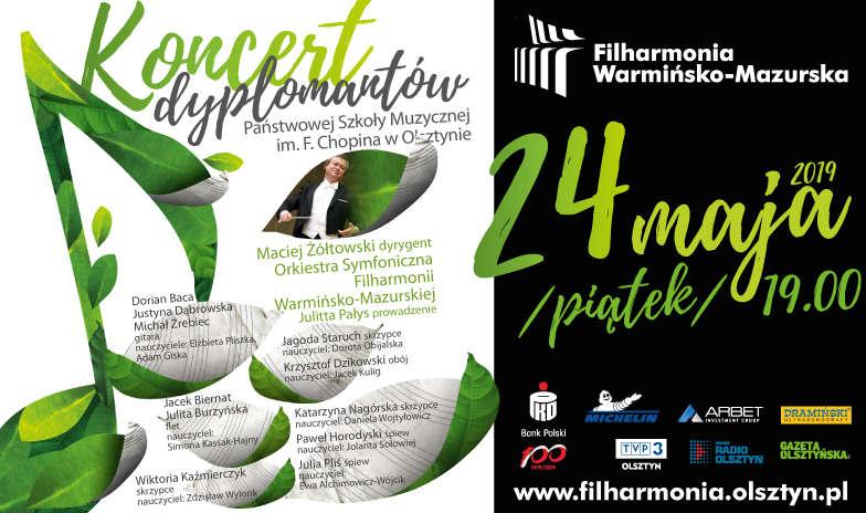 Koncert dyplomantów PSM I i II st. im. Fryderyka Chopina w Olsztynie - full image