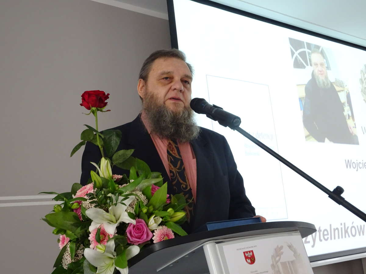 Wojciech Hieronymus  Borkowski dziękuje za nagrodę