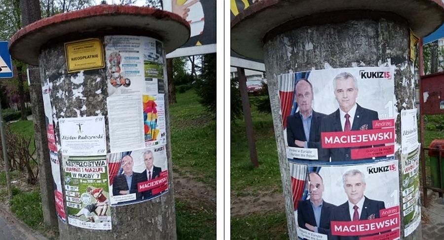 Nielegalnie Zawiesili Plakaty Wyborcze Aktualizacja