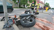 Wypadek na ul. Limanowskiego w Olsztynie. Kierowca bmw zajechał drogę motocykliście [ZDJĘCIA]