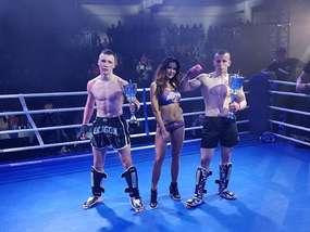 Z prawej Kamil Paszkowski (Kickboxing Bartoszyce)