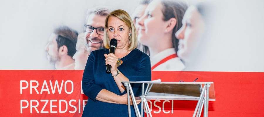 Małgorzata Oleszczuk, Prezes PARP podczas spotkania z przedsiębiorcami.