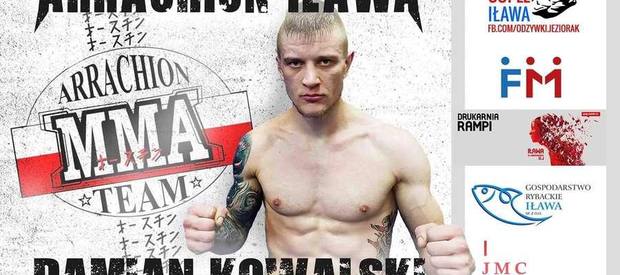 W piątek 10 maja zawodnik Arrachionu Iława Damian Kowalski (na zdjęciu) stoczy walkę z Szymonem Broncelem