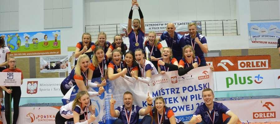 Mistrzynie Polski kadetek 2019 - KS Pałac Bydgoszcz
