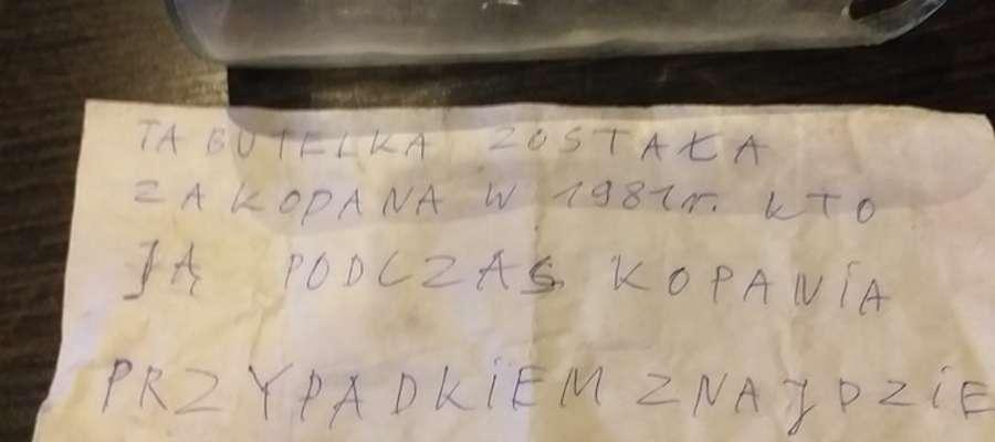List w Butelce Krynica Morska