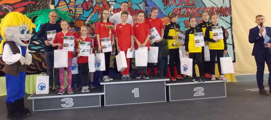 Na trzecim miejscu podium drużyna z Brzozia Lubawskiego z opiekunem