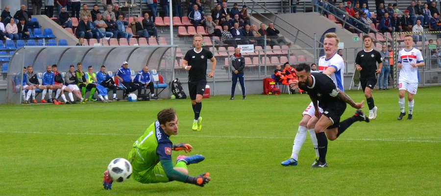 Sokół Ostróda pierwszy raz tej wiosny stracił punkty na własnym stadionie