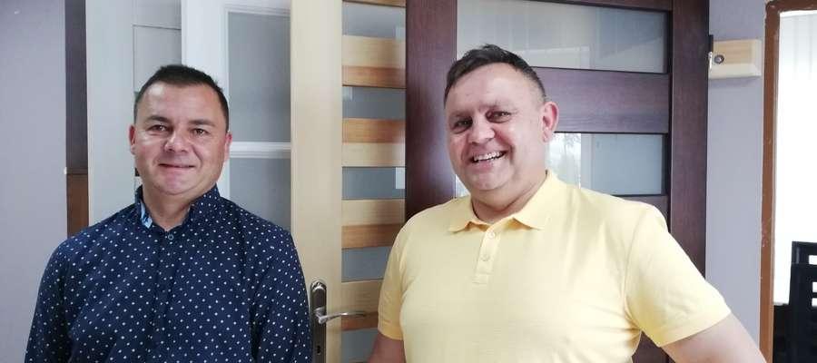 Od lewej Karol Górski prezes DREW-GÓR DRZWI Sp.zo.o. z bratem Grzegorzem Górskim członkiem zarządu