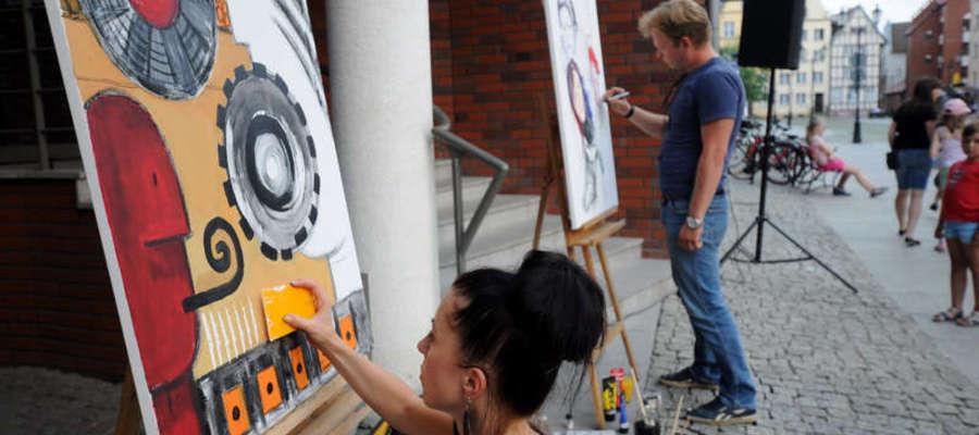 W Grafataku bierze udział wielu młodych, utalentowanych artystów z Elbląga i okolic