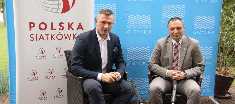 Konferencja prasowa burmistrza Iwaszkiewicza z Pawłem Papke odbyła się w środę w Hotelu Europa