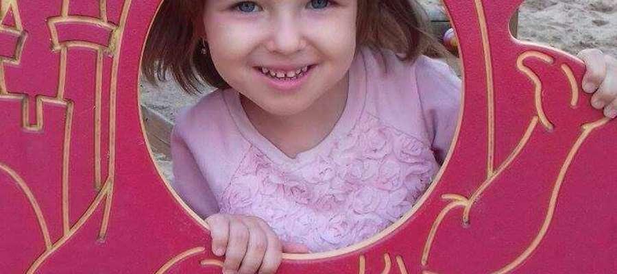 Maja Mieczkowska, 6 lat i 6 m-cy, Sępopol. SMS o treści GB.MKA.9 na numer 7248 (Koszt 2,46 zł z VAT za SMS)