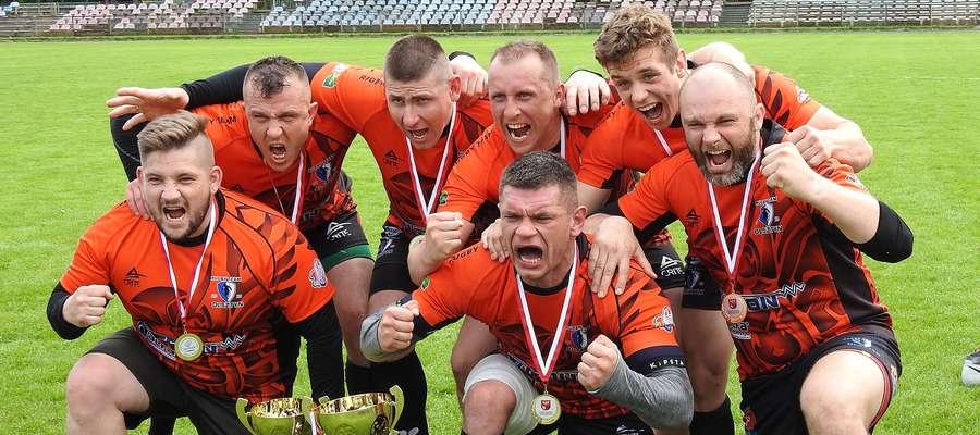 Oto mistrzowie województwa w rugby olimpijskim, czyli Rugby Team Olsztyn.