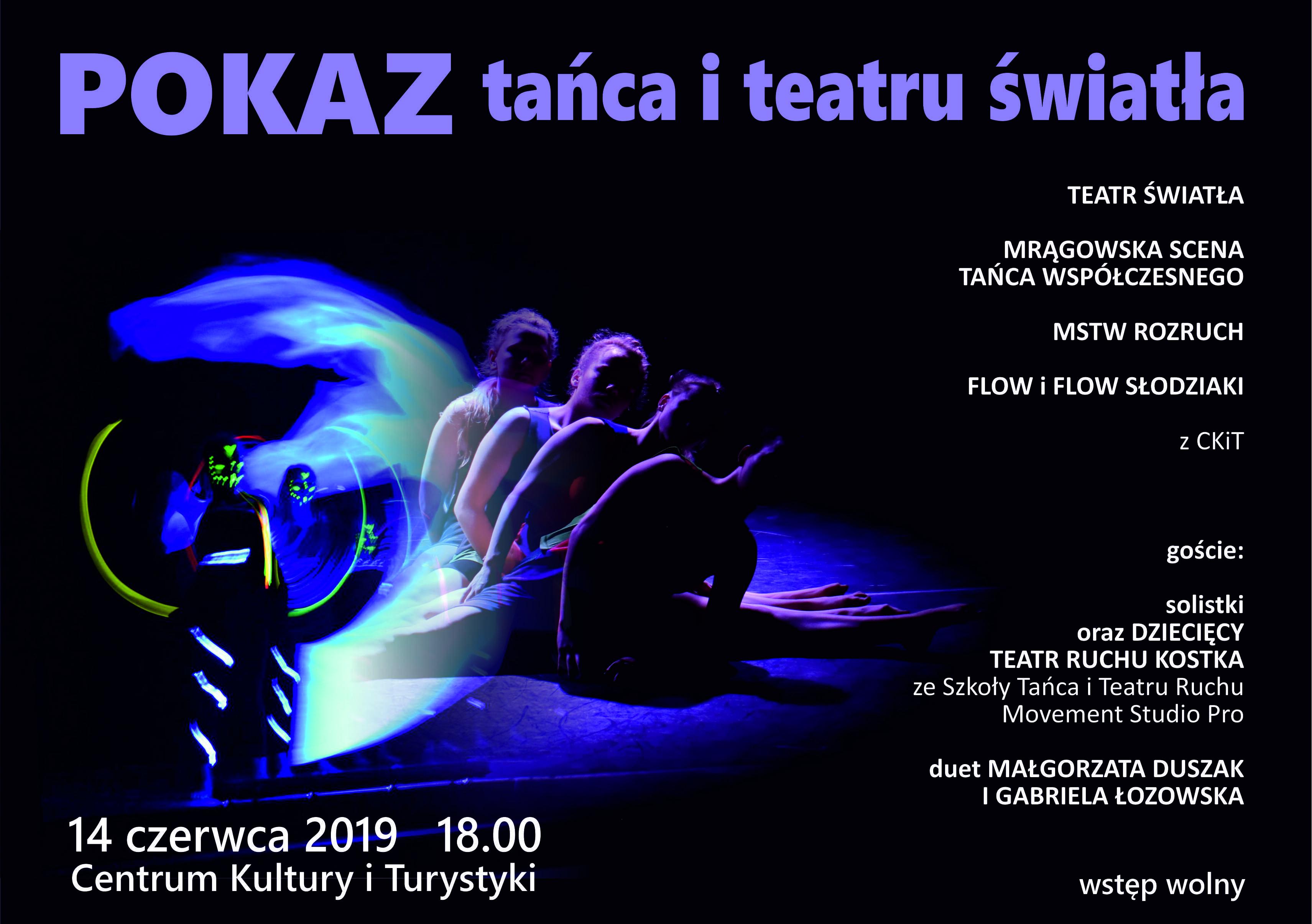 Pokaz tańca i teatru światła