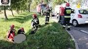 Motocykl zderzył się z osobówką