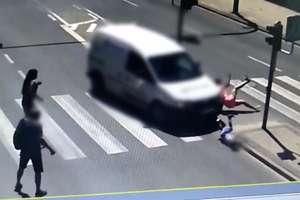 5-letni chłopiec i jego mama potrąceni na pasach w Olsztynie [VIDEO ITS]