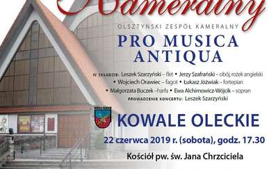 Koncert kameralny Pro Musica Antiqua w kościele w Kowalach Oleckich