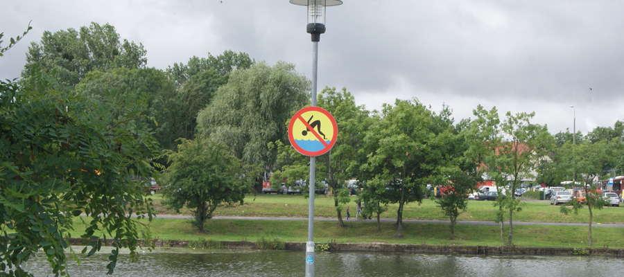 Zakaz kąpieli w rzece Elbląg