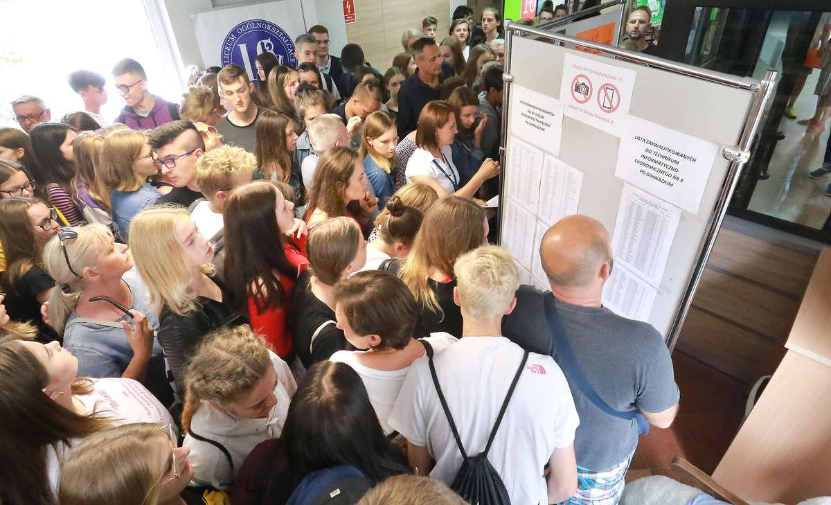 Sprawdzanie wyników w XI LO w Olsztynie