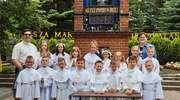 Uczniowie klasy trzeciej w Gietrzwałdzie