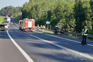 Poranny wypadek na DK 16. Jedna osoba ranna