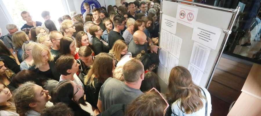 Ogłoszenie listy przyjętych w olsztyńskim liceum